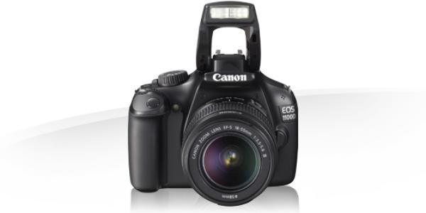 """Фотоаппарат зеркальный цифровой Canon EOS 1100D Kit черный, 12.2Мпикс, ЖКД 2.7"""", USB2.0, ТВ выход, SD/SDHC, аккумулятор, прибл. 650 снимков, объектив Canon EF-S 18-55/3.5-5.6 IS II"""