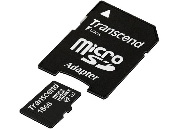 Карта памяти SDHC-micro (TransFlash) 16GB Transcend TS16GUSDU1 Ultimate