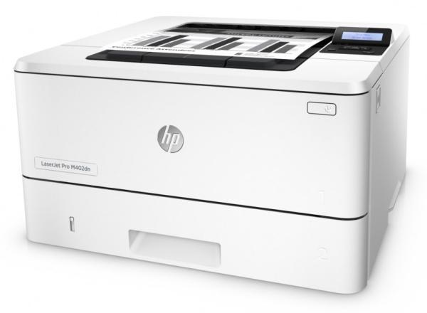 Принтер лазерный HP LaserJet Pro 400 M402d (C5F92A), A4, 38стр/мин, 1200dpi, 128MB, USB2.0, дуплекс, ЖК дисплей, 80000стр/мес