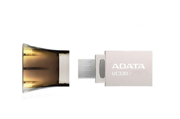 Флэш-накопитель USB2.0  16GB A-Data DashDrive UC330 OTG AUC330-16G-RBK