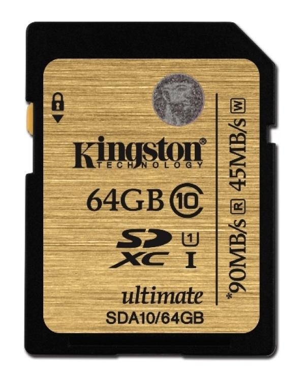 Карта памяти SDXC  64GB Kingston SDA10/64GB