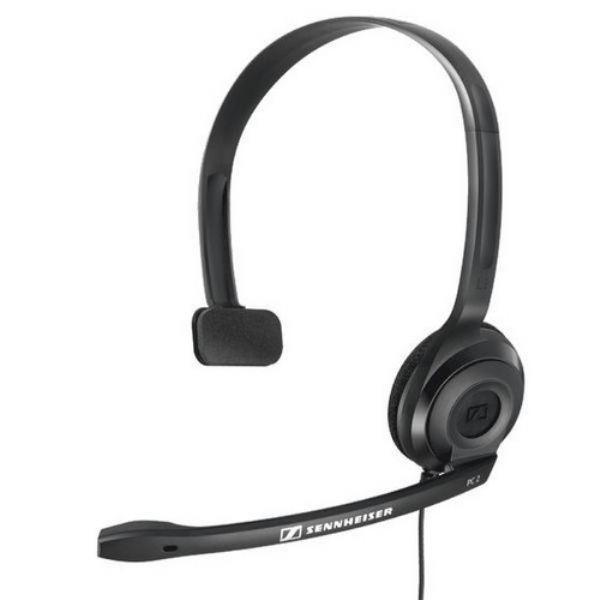 Наушник с микрофоном (гарнитура) проводной дуговой закрытый Sennheiser PC 2 CHAT