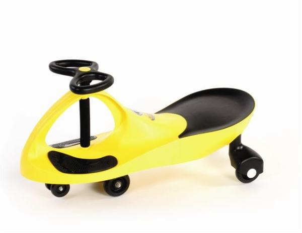 Машина детская Bibicar Plasmacar, Колеса полиуретан, желтый