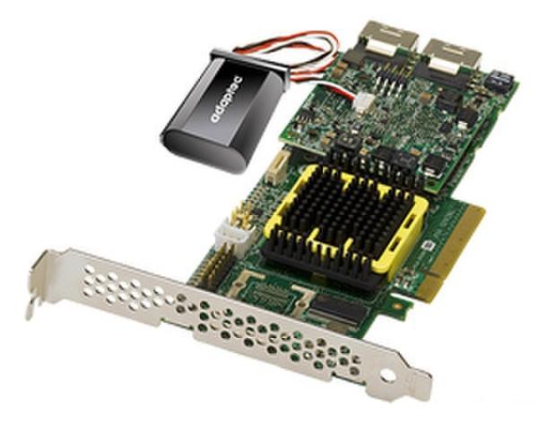 Контроллер SATA/SAS Adaptec ASR-5805Z, PCI-E1.0x8, 2*SFF-8087, 8*SAS 6Gb/s, 512MB + конденсатор, RAID 0 1 5 6 10 50 60, low profile, восстановленный