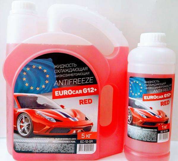Антифриз EUROcar G12+ RED Беларусь