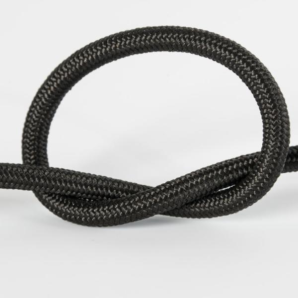 Кабель электрический силовой 2х0.75мм, многожильный, медь, черный, в тканевой оплетке, вискоза, оболочка ПВХ, диаметр 5мм, бухта 50м, цена за 1 метр