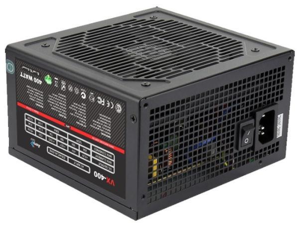 БП для корпуса ATX Aerocool VX-400, 400Вт, 20+4pin, 4+4pin(CPU)/ 6pin(PCI-E)/ 2*4pin(molex)/FD/2*SATA, 120*120мм