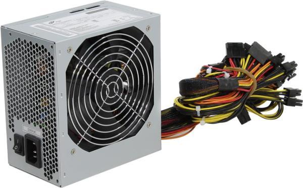 БП для корпуса ATX FSP ATX-650PNR-Q, 600Вт, 20+4pin, 4+4pin(CPU)/2*8pin(PCI-E)/4*4pin(molex)/FD/5*SATA, 120*120мм, Active PFC