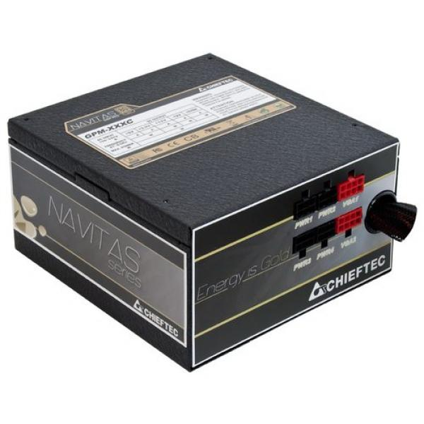 БП для корпуса ATX Chieftec GPM-850C [Navitas], 850Вт, 80 PLUS Gold, 20+4pin, 4+4pin(CPU)/4*6+2pin(PCI-E)/4*4pin(molex)/FD/3*SATA, 140*140мм, Active PFC