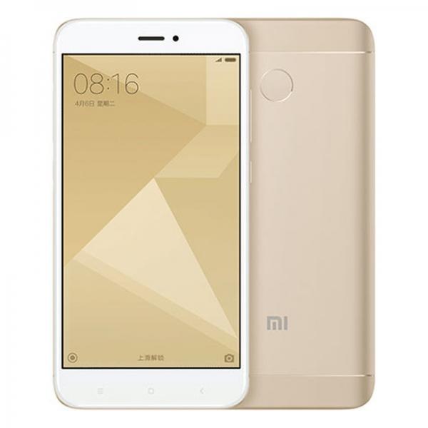 "Смартфон 2*sim Xiaomi Redmi 4X, 8*1.4ГГц, 32GB, 5"" 1280*720, SD-micro/SDHC-micro, 4G/3G, GPS, BT, WiFi, G-sensor, 2 камеры 13/5Мпикс, Android 6.1, 69.9*139.2*8.6мм 150г, золотистый"