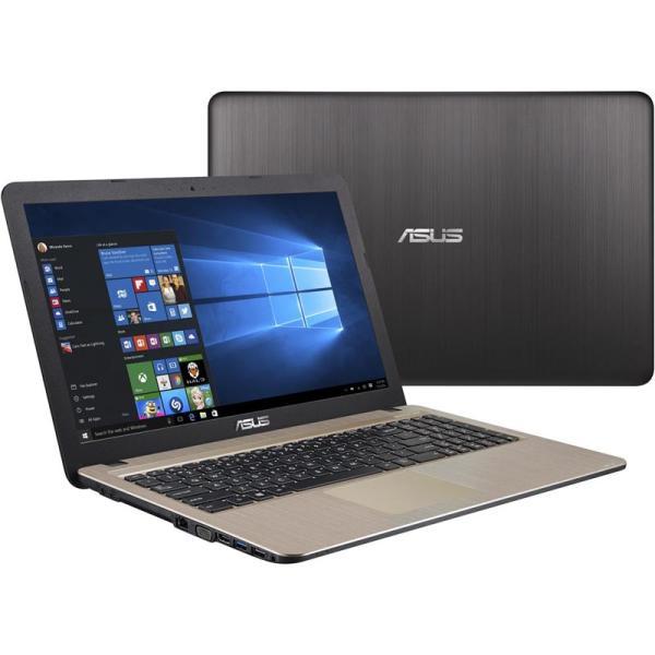 """Ноутбук 15"""" ASUS X541NC-GQ081T, Pentium N4200 1.1 4GB 500GB GT810M 2GB USB2.0/USB3.0 USB-C LAN WiFi BT HDMI/VGA камера SD 1.9кг W10 черный-золотистый"""