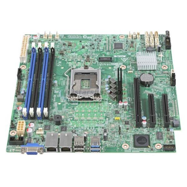 Материнская плата S1151 Intel DBS1200SPS, C232, 4DDR3 ECC Dual Channel, PCI-E3.0x16 (x4), 2*PCI-E2.0x8, VGA, 6*SATAIII RAID (0 1 5 10), 2*USB2.0/2*USB3.0, 2LAN1Gb, mATX