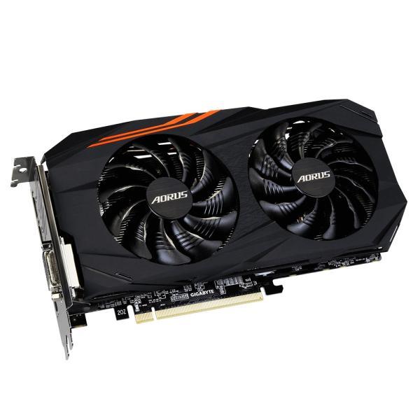 Видеокарта PCI-E Radeon RX 570 GIGABYTE GV-RX570AORUS-4GD, 4GB GDDR5 256bit 1280/7000МГц, PCI-E3.0, HDCP, 3*DisplayPort/DVI/HDMI, CrossFireX, Heatpipe, 150Вт