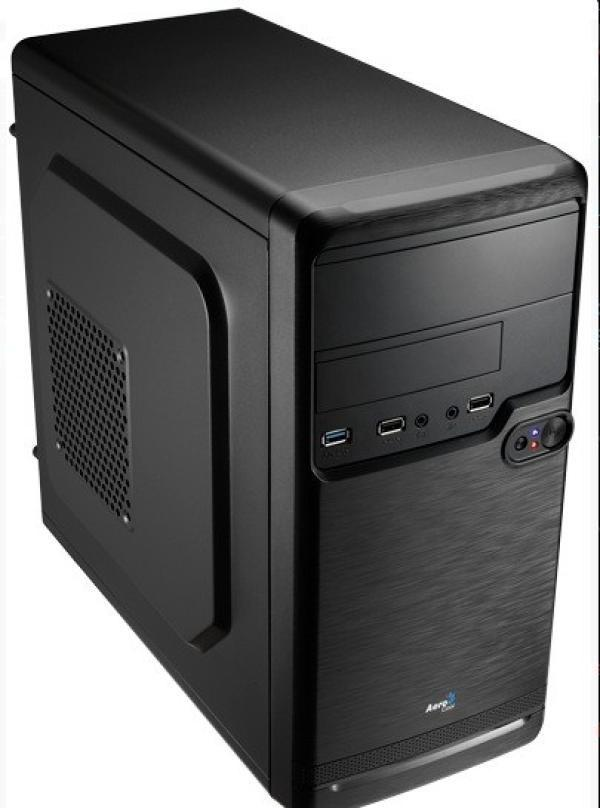 Компьютер РЕТ, Celeron G1840 2.8 / ASUS H81M Звук Видео  LAN1Gb USB3.0/ DDR3 4GB/ 500GB/ DVD-RW/ Aerocool mATX 350Вт USB2.0 Audio черный