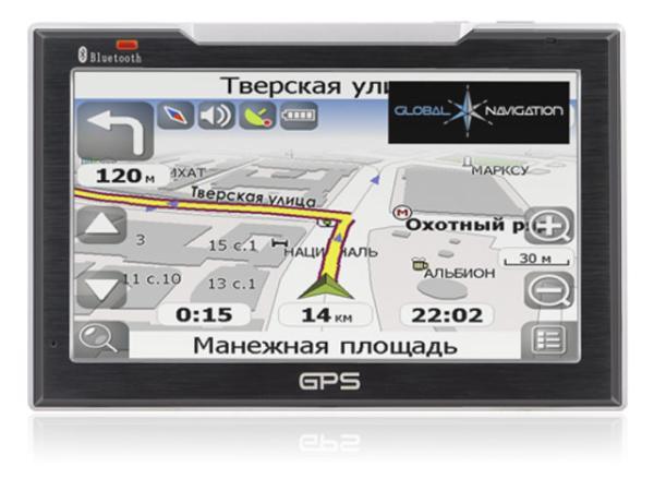"GPS навигатор автомобильный Global Navigation GN 7096, ЖКД 7"" 800*480, MMC/SD, Bluetooth, Hands-Free, сенсорный экран, Li-Ion, Навител Навигатор, 180*123*23мм 400г"