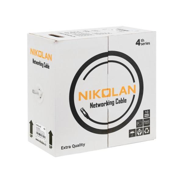 Кабель RJ45 UTP 5е NIKOLAN NKL 4100C-OR 4*2*0.50 24 AWG, 4 пары, LSZH, малодымный, сертификат ANSI/TIA/EIA-568-B, пож.сертификат групповой прокладки, оранжевый, бухта 305м