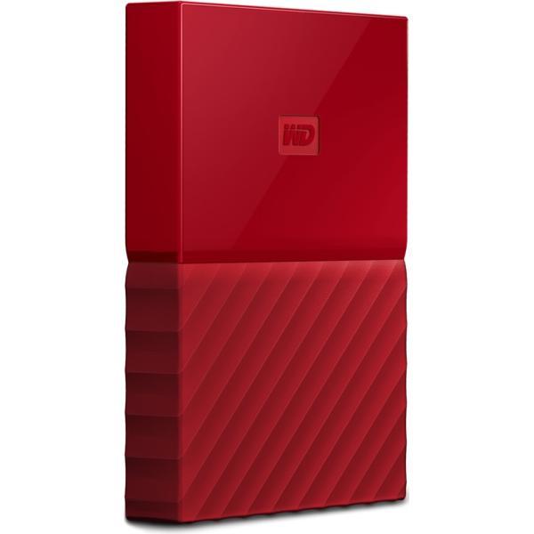 "Жесткий диск внешний 2.5"" USB3.0  1TB WD My Passport WDBBEX0010BRD, 5400rpm, microUSB B, красный"