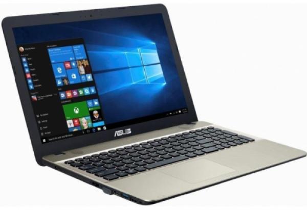 "Ноутбук 15"" ASUS X541NA-GQ283T, Pentium N4200 1.1 4GB 500GB USB2.0/USB3.0 USB-C LAN WiFi BT HDMI/VGA камера SD 2кг W10 черный-золотистый"