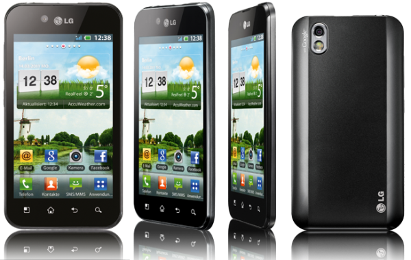 "Смартфон LG Optimus Black P970, OMAP3630 1ГГц, 1G, 4"" 480*800, SD-micro, GSM/GPRS/EDGE, BT/WiFi,  радио, камера 5Мпикс, Android 2.2, 64*122*9мм 109г, 740/11.5ч, черный"