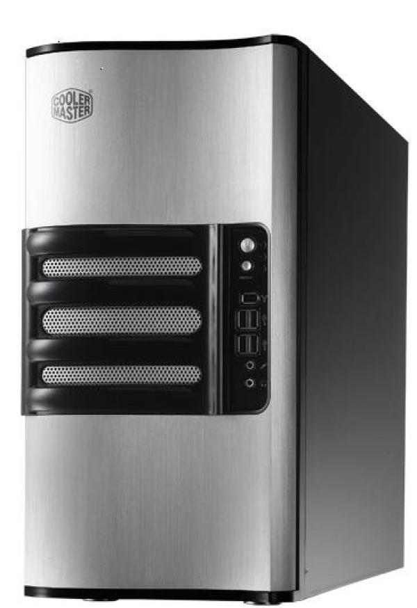 "Корпус ATX MidiTower CoolerMaster iTower 930 (RC-930-SKN2-GP), без БП, 5*5.25""+0(1)*3.5"", 4*3.5""(SATA)HS, Audio/IEEE1394/4*USB2.0, 2(2) вент., черный-серебристый"