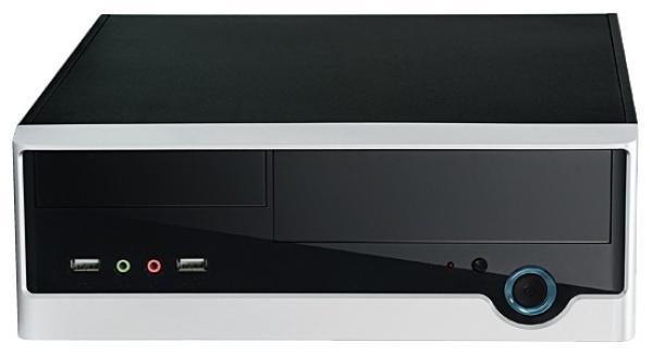 """Корпус Mini-ITX Desktop Foxconn RS233, 150Вт, 1*5.25""""+1(1)*3.5"""", Audio/2*USB2.0, 1(1) вент., черный-серебристый"""