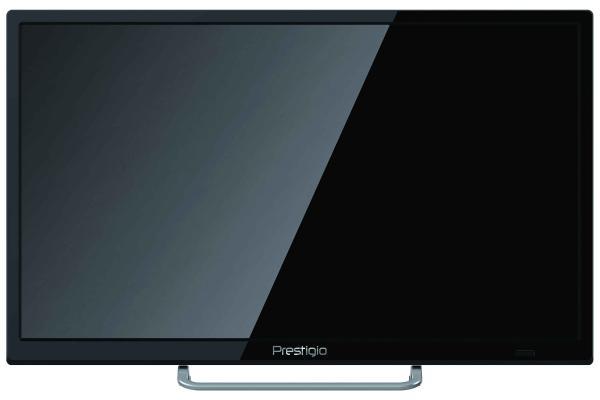 "ТВ LED 24"" Prestigio 24"" Wize 1, 1366*768, RCA/3HDMI/SCART/VGA, SPDIF(Coaxial)/MiniJack, CI+/USB2.0, DivX/JPEG/MP3/MPEG4/MKV, DVB-C/T2, 2*3Вт, черный"