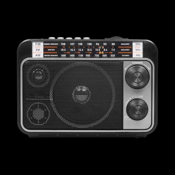 Радиоприемник Ritmix RPR-171, MP3/WMA, AM/FM/SW, USB2.0/SD/MMC, AUX/MiniJack, аккумулятор/D*2шт, черный