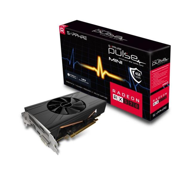 Видеокарта PCI-E Radeon RX 570 Sapphire PULSE ITX, 4GB GDDR5 256bit 1244/7000МГц, PCI-E3.0, HDCP, DisplayPort/DVI/HDMI, CrossFireX, Heatpipe, 150Вт, 11266-06