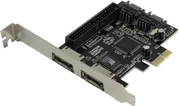 Контроллер IDE/SATA Espada PCIE005, PCI-Ex1, 2*SATAII, 2*eSATA, RAID 0 0+1 1, JBOD