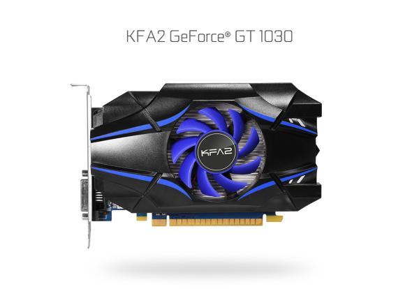 Видеокарта PCI-E Gf GT1030 KFA2 30NPH4HVQ4SK, 2GB GDDR5 64bit 1227/6008Гц, PCI-E3.0, HDCP, DVI/HDMI, 35Вт