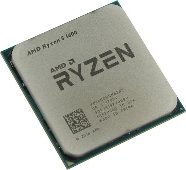 Процессор AM4 AMD RYZEN 5 1600 3.2ГГц, 6*512KB+2*8MB, Summit Ridge, 0.014мкм, Six Core, SMT, Dual Channel, 65Вт