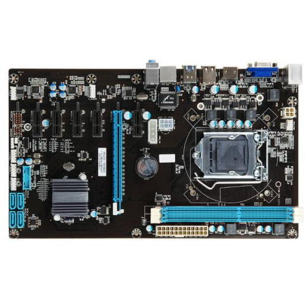 Материнская плата  с процессором Esonic H81-BTC-KING, Celeron G1820 2.7, H81, 2DIMM DDR3 1600, PCI-Ex16, 5*PCI-Ex1, HDMI/VGA, 4SATAIII, Звук 7.1, 4USB2.0, LAN, ATX