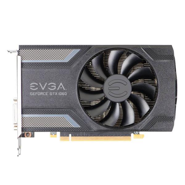 Видеокарта PCI-E Gf GTX1060 EVGA SC Gaming (06G-P4-6163-KR), 6GB GDDR5 192bit 1607/8008Гц, PCI-E3.0, HDCP, 3*DisplayPort/DVI/HDMI, 120Вт
