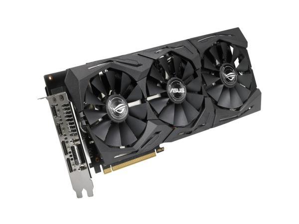 Видеокарта PCI-E Radeon RX 580 ASUS ROG-STRIX-RX580-T8G-GAMING, 8GB GDDR5 256bit 1411/8000МГц, PCI-E3.0, HDCP, 2*DisplayPort/DVI/2*HDMI, CrossFireX, Heatpipe, 150Вт