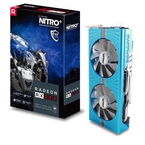 Видеокарта PCI-E Radeon RX 580 Sapphire NITRO+, 8GB GDDR5 256bit 1430/8400МГц, PCI-E3.0, HDCP, 2*DisplayPort/DVI/2*HDMI, CrossFireX, Heatpipe, 250Вт, 11265-21