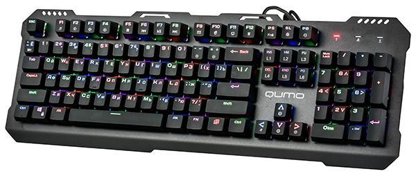 Клавиатура QUMO Dragon War Apparatus К34, USB, механическая, подсветка, программируемая, черный