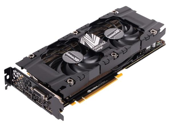 Видеокарта PCI-E Gf GTX1080 Ti Inno3D Twin X2 (N108T-1SDN-Q6MN), 11GB GDDR5X 352bit 1480/11000МГц, PCI-E3.0, HDCP, 3*DisplayPort/DVI/HDMI, SLI, 250Вт
