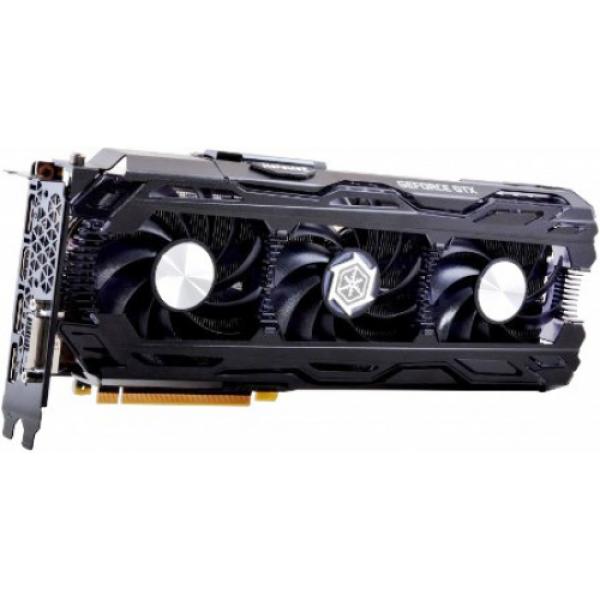 Видеокарта PCI-E Gf GTX1070 Ti Inno3D iChill X3 (C107T3-1SDN-P5DN), 8GB GDDR5X 256bit 1607/8008МГц, PCI-E3.0, HDCP, 3*DisplayPort/DVI/HDMI, SLI, 180Вт
