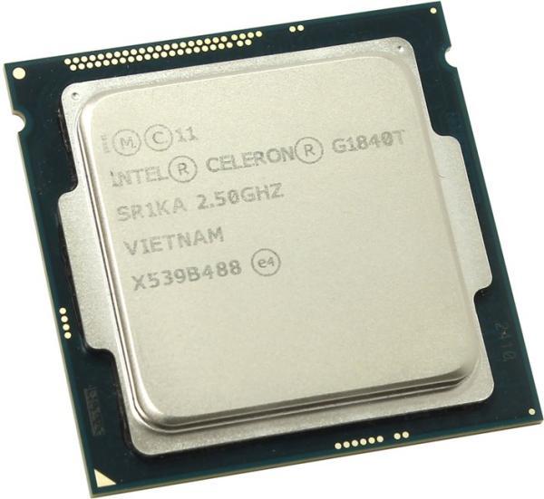 Процессор S1150 Intel Celeron G1840T 2.5ГГц, 256KB+2MB, 5ГТ/с, Haswell 0.022мкм, Dual Core, видео 350МГц, 53Вт