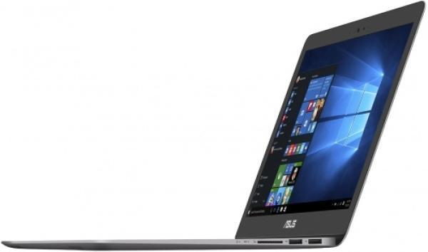 """Ноутбук 13"""" ASUS ZENBOOK UX310UQ-FC518T, Core i3-7100U 2.4 4GB 128GB 1920*1080 IPS GT940MX 2GB 2*USB2.0/USB3.0 USB-C WiFi BT HDMI камера SD 1.45кг W10 серый"""