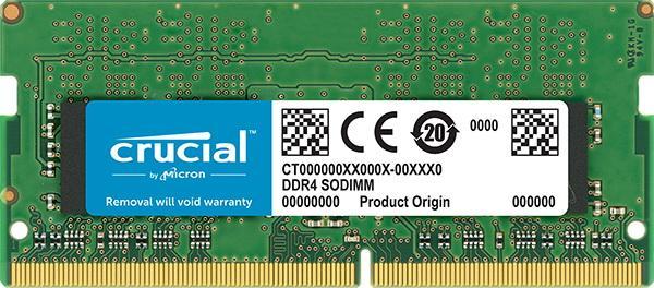 Оперативная память SO-DIMM DDR4  8GB, 2400МГц (PC19200) Crucial CT8G4SFD824A, 1.2В, retail