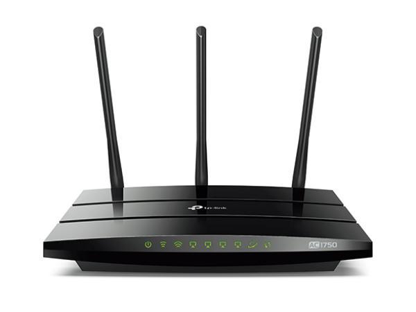 Маршрутизатор WiFi TP-LINK Archer C7, 4*RJ45 LAN 1Гбит/с, 1*RJ45 WAN 1Гбит/с, 802.11n 450Мбит/с, 2.4ГГц, 802.11ac 1300Мбит/с, 5ГГц, 2*USB2.0, 3G/4G, принт-сервер, VPN-клиент, FireWall