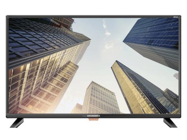 "ТВ LED 32"" Soundmax SM-LED32M02, 1366*768, RCA/HDMI/VGA, SPDIF(Coaxial)/MiniJack, CI+/USB2.0, DivX/JPEG/MP3/MPEG4/MKV, DVB-C/T2, 2*8Вт, черный"