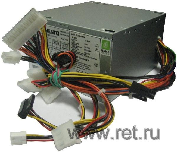 БП для корпуса ATX ASUS ATX-500, 450Вт, P4 24+4pin, 6pin(PCI-E)/4*4pin(molex)/FD/2*SATA, 120*120мм