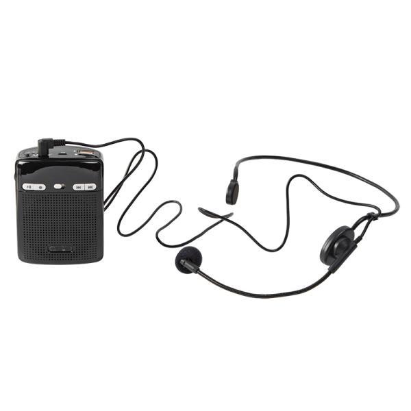 Мегафон поясной TerraSound ПМ-13, 5Вт, USB, MiniJack, MP3 плеер, SD micro, микрофон, аккумулятор, 75*94*40мм, 150г