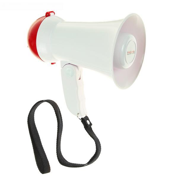 Мегафон ручной TerraSound MG-212, 5Вт, микрофон, 6*AA, 95*155*150мм, 270г