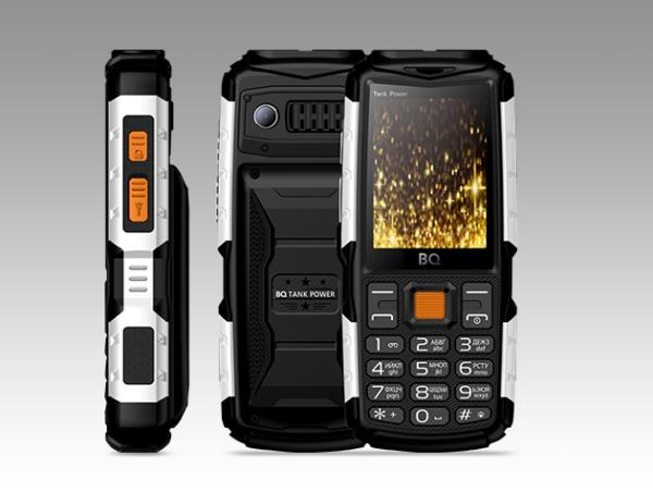 "Мобильный телефон 2*SIM BQ TANK POWER (BQ-2430), GSM900/1800/1900, 2.4"" 320*240, камера 0.3Мпикс, SDHC-micro, BT, диктофон, WAP, MP3 плеер, 59.9*135.5*28.9мм 198г, черный"