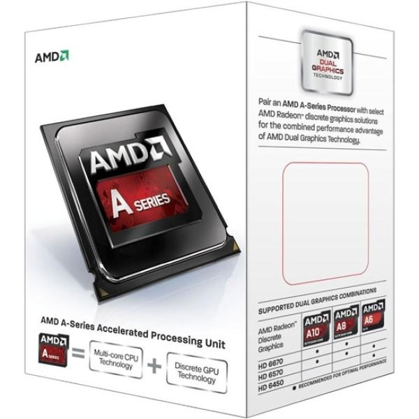 Процессор FM2 AMD A4-7300 3.8ГГц, 1MB, 5000МГц, Richland 0.032мкм, Dual Core, Dual Channel, видео 760МГц, 65Вт, BOX