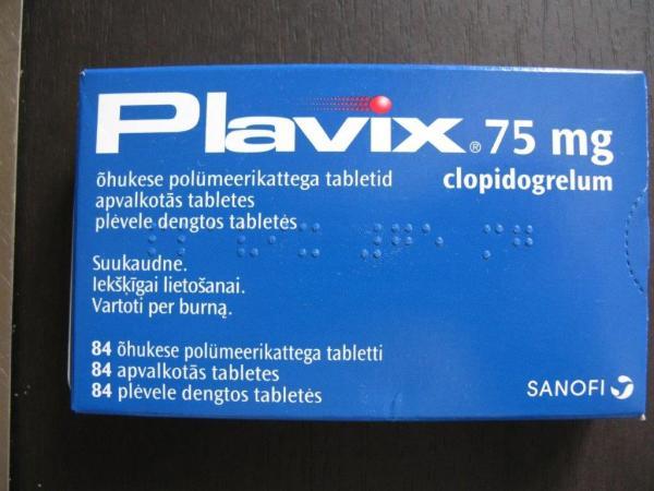 Плавикс 75 мг N85