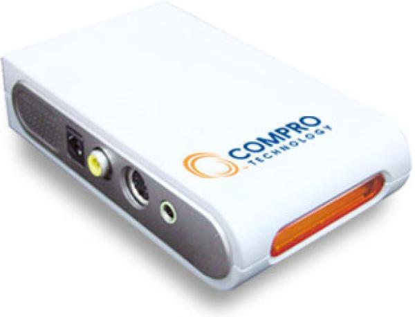 Тюнер ТВ внешний Compro VideoMate Action, USB2.0, ПДУ, RCA/S-Video вход, аудио вход